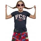 T-Shirt - Girls tailliert, (Gr. 116 - 152), 100% BW (navy)